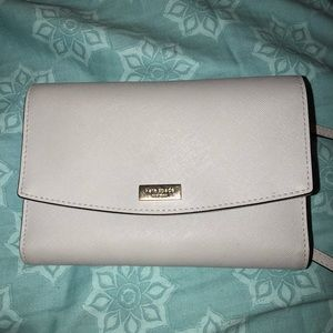 Grey Kate Spade wallet crossbody